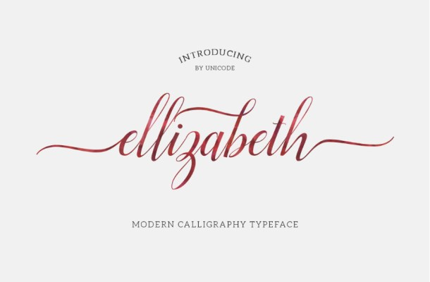 Ellizabeth Script Free Font