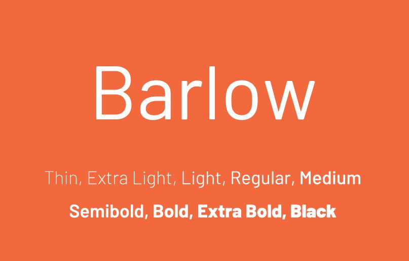 Barlow Font Family - Free Fonts