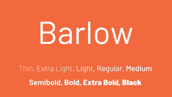 Barlow Font Family