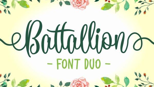 Battallion Script Font