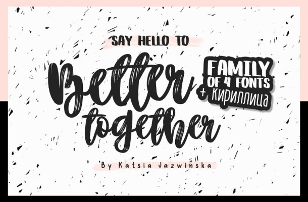 Better Together Script Free Font