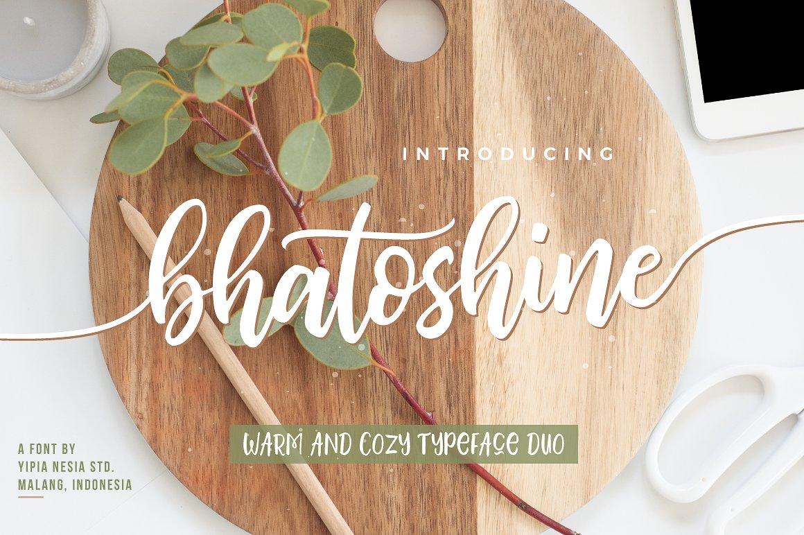 bhatoshine-script-font