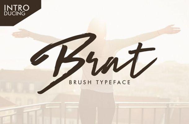 Brat Brush Free Font