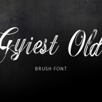 Gyiest Old Brush Font