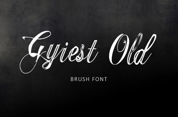 Gyiest Old Brush Font