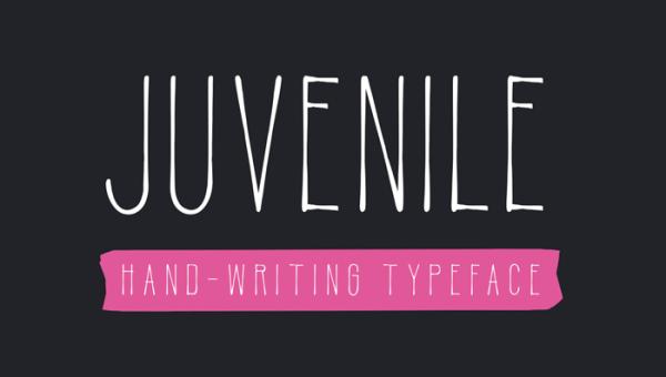 Juvenile Handwritten Font