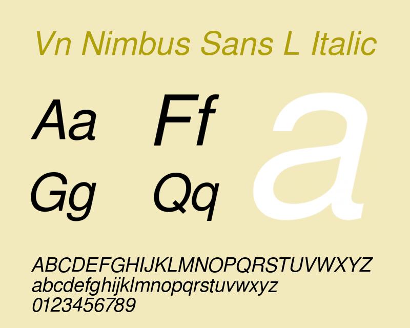 nimbus sans l italic