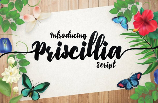 Priscillia Script Free Font
