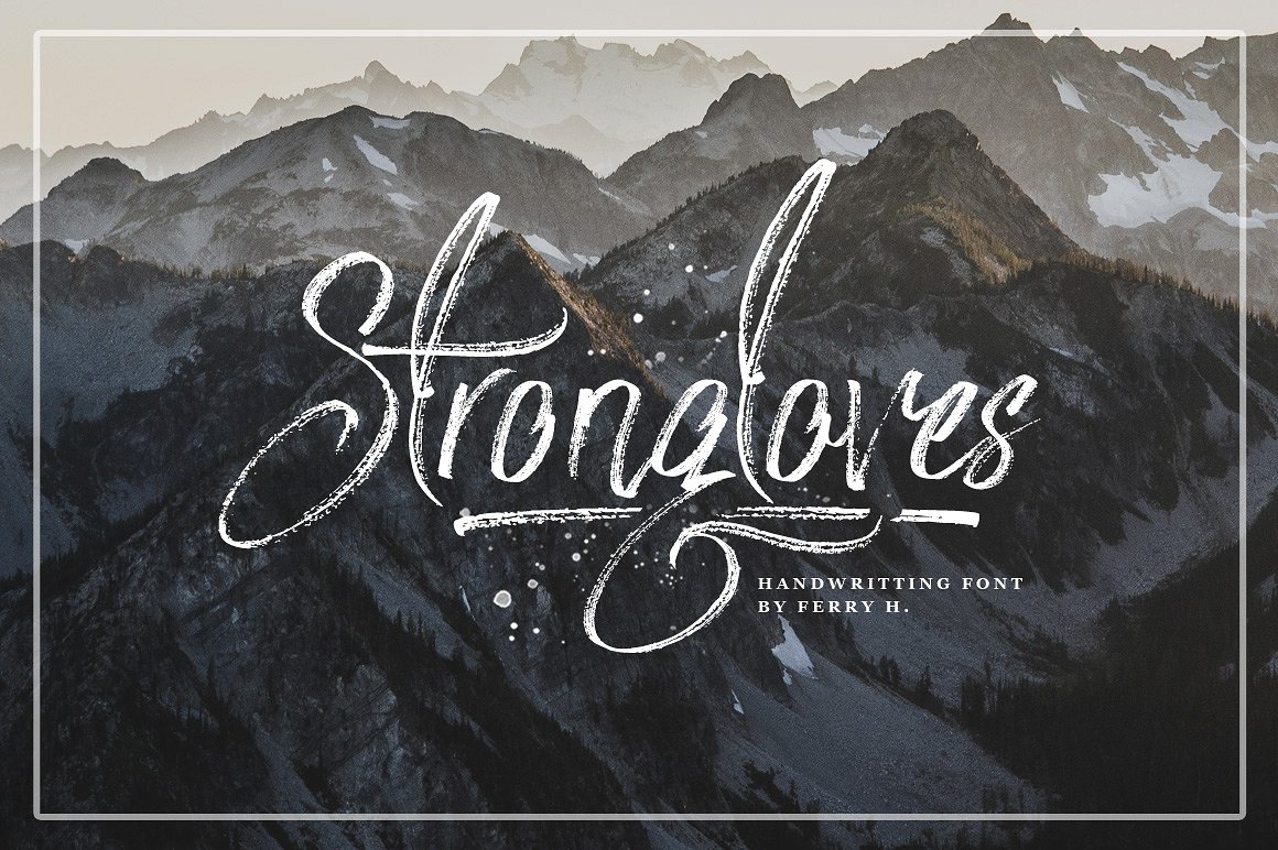 strongloves-handwritting-font