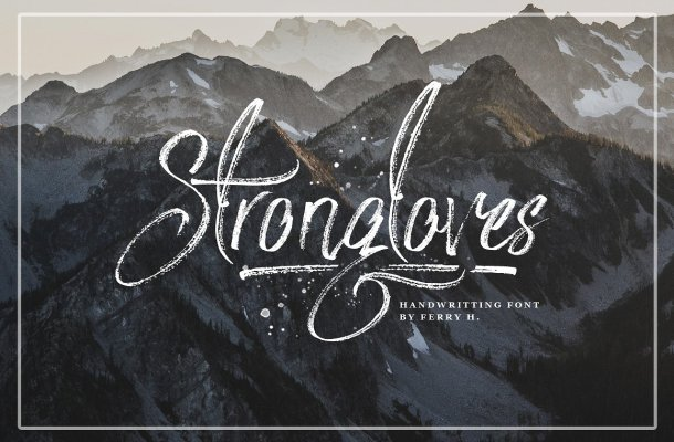 Strongloves Handwriting Font