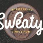 Sweaty Simple Script Free Font