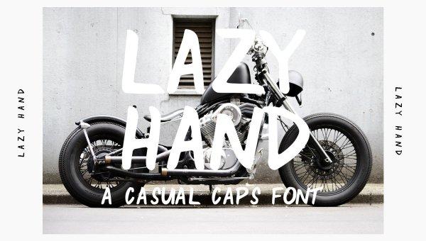 Lazy Hand Font