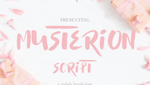 Musterion Brush Font Free