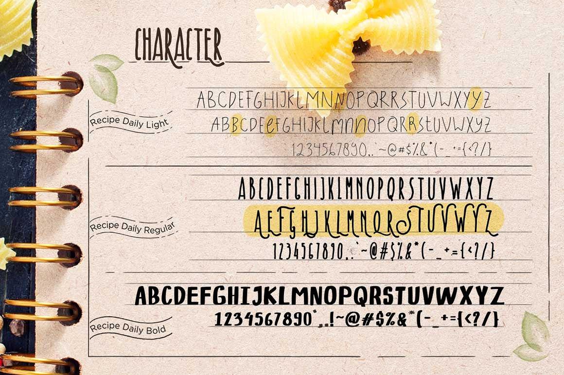 recipe-daily-typeface-1