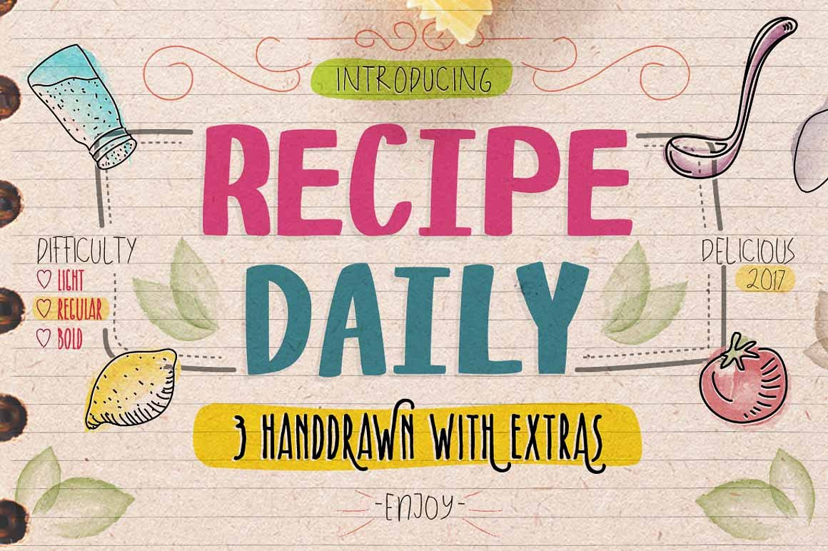 recipe-daily-typeface