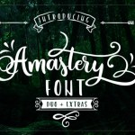 Amastery Script Font