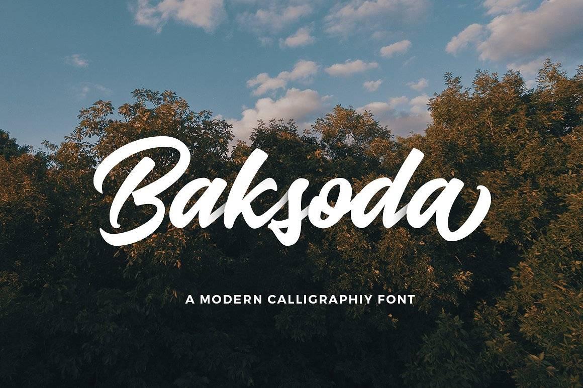 Baksoda Script Font - Free Fonts