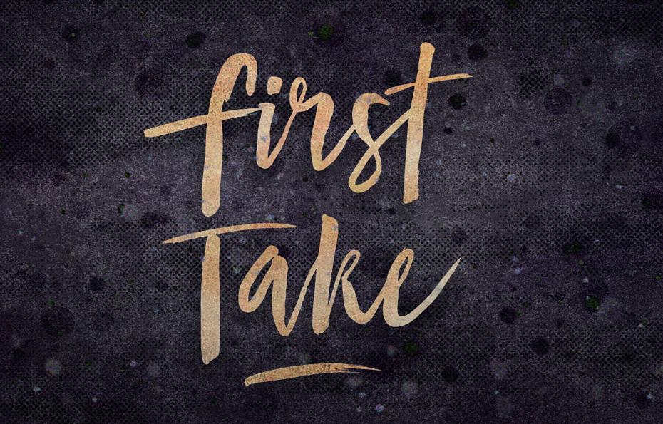 first-take-brush-font