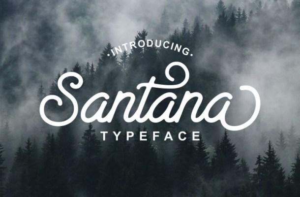 Santana Script Font