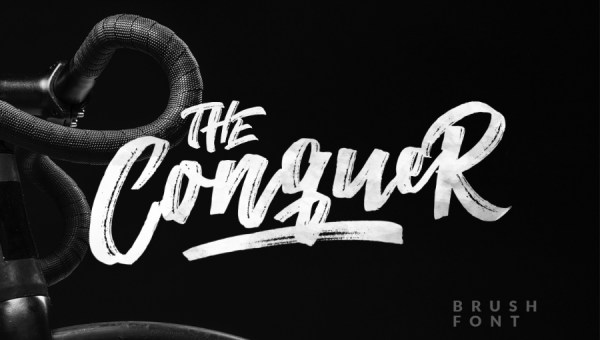 The Conquer Brush Font