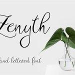 Zenyth Script Font