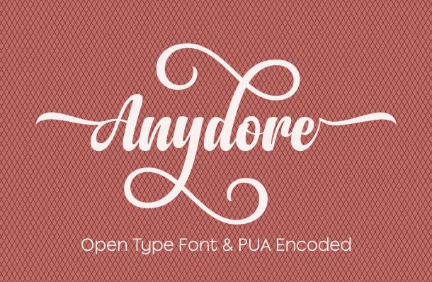 Anydore Script Font
