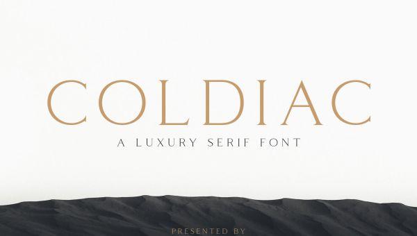 Coldiac Luxury Serif Font