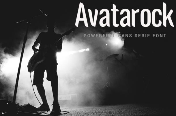 Avatarock Font Free