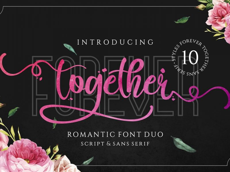 Forever-Together-Romantic-Font-Duo-800x600