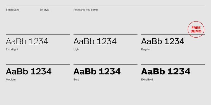 StudioSans Font Family-1