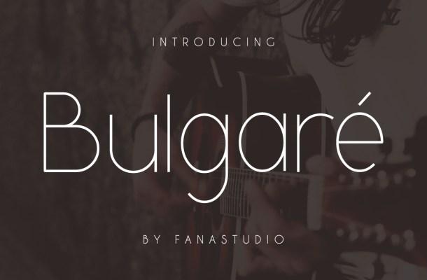 Bulgare Sans Font