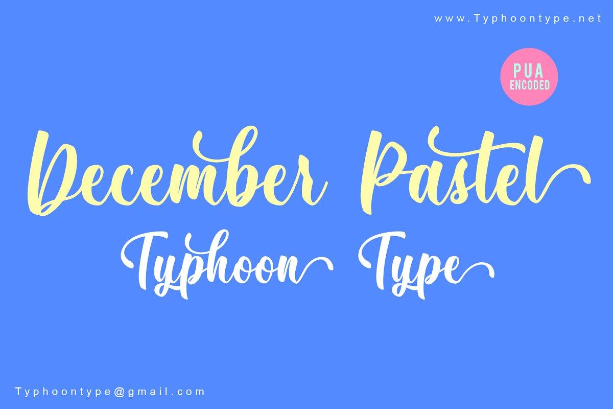 december-pastel-script-font