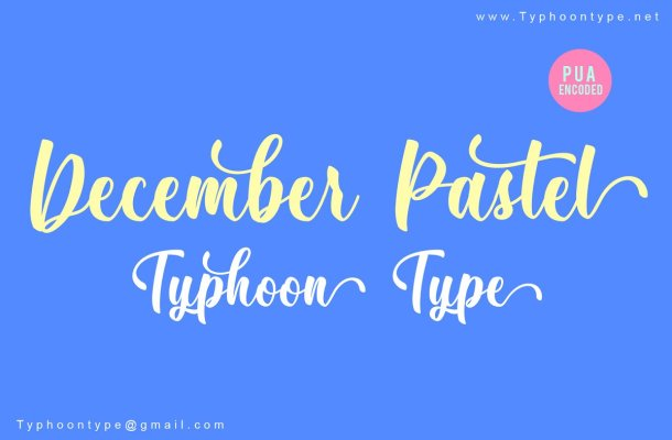 December Pastel Script Font