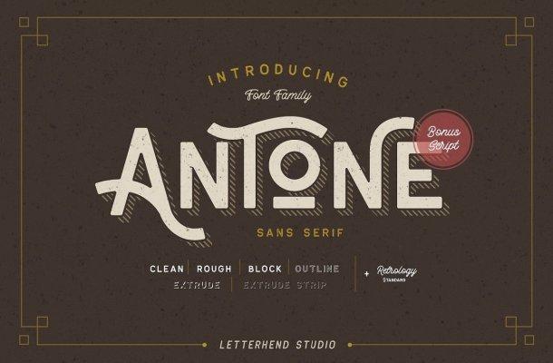 Antone Display Vintage Font