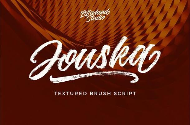 Free Jouska Rough Brush Font