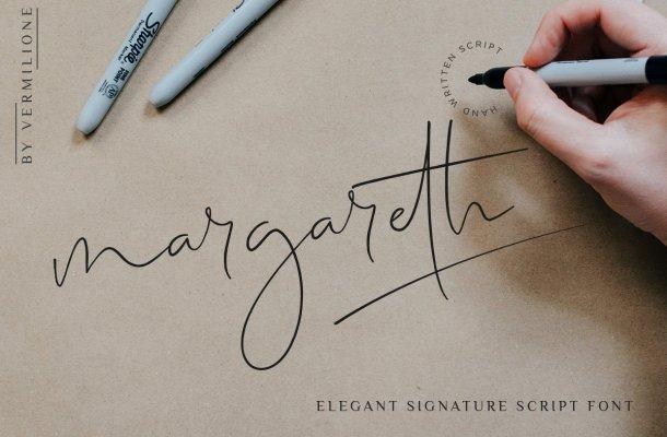 Margareth elegant signature Font