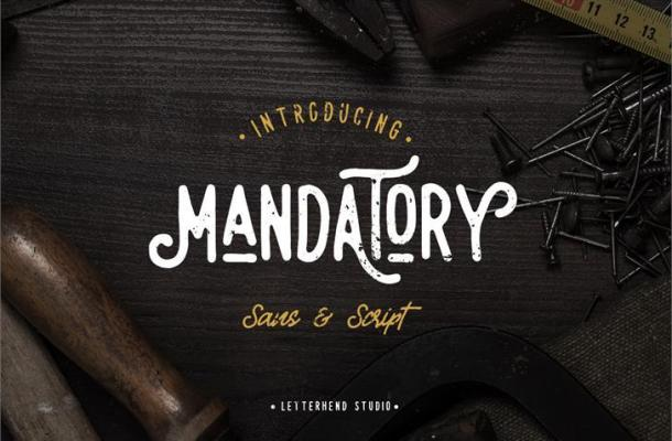 Free Mandatory Script Font