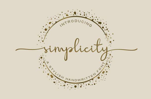 Simplicity Script Font Free