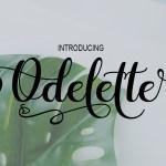 Odelette Script Font