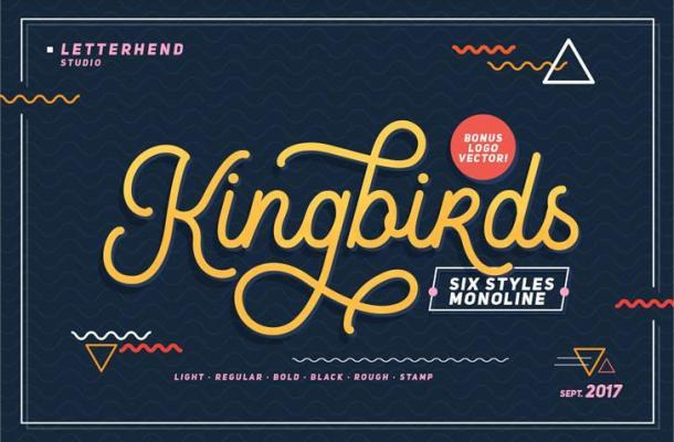 Free Kingbirds Regular Font