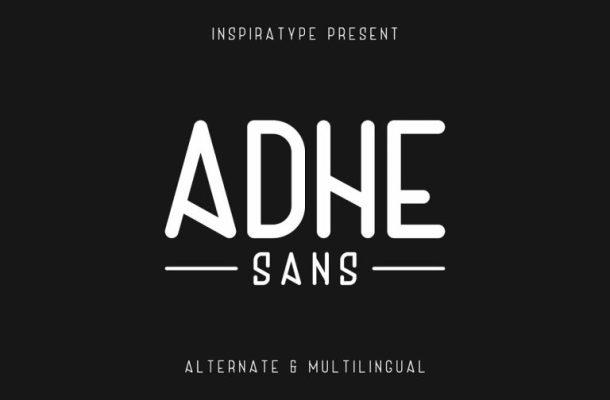 Free Adhe Sans Typeface