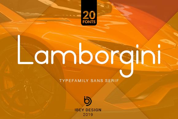 Lamborgini Font Family