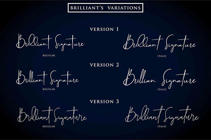 Brilliant Signature Font-1