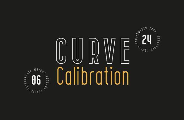 Free CURVE Calibration Typeface