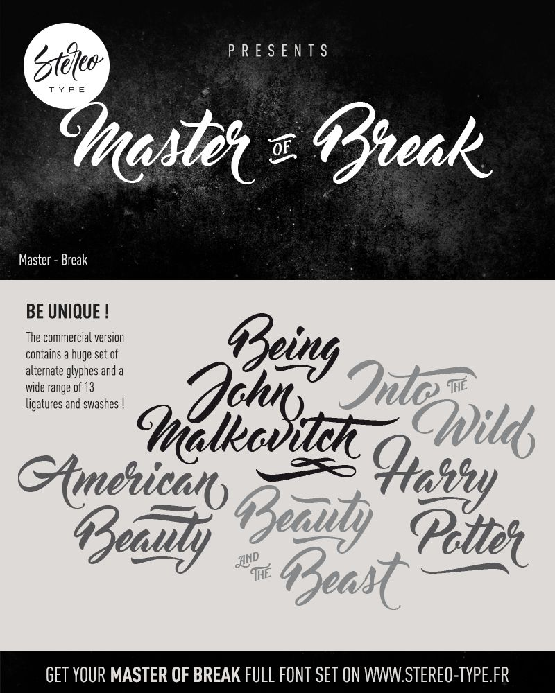 Master of Break Font-2