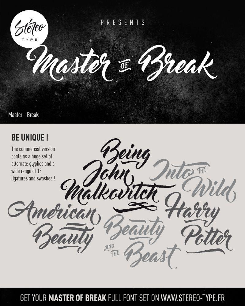 Master of Break Font-2