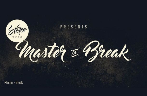 Master of Break Font