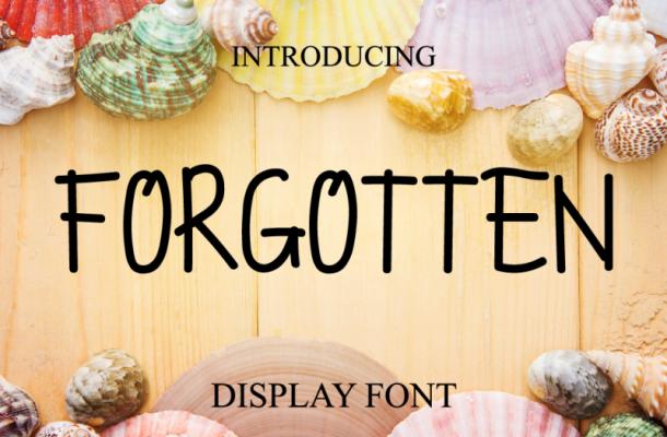 Forgotten Typeface
