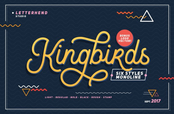 Kingbirds Regular Font