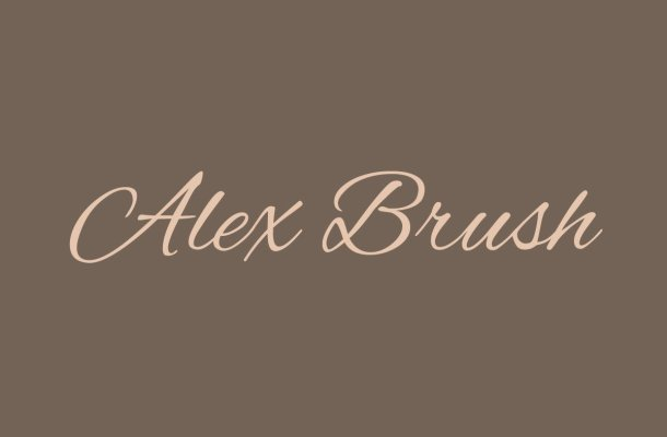 Free Alex Brush Font